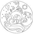 Coloring Dolphin Mandala vector image vector image