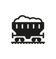coal car icon on white background vector image