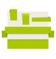 Green paper tags - ribbons vector image