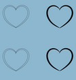 heart the black and white color icon vector image