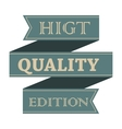 Higt quality vintage styled ribbon vector image