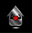 House with a healthy heart vector image