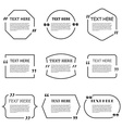Icon Set of Quotation Speech Bubble templates with vector image