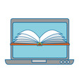 laptop computer with ebook vector image