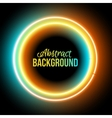 lowing electric circle neon lamp vector image