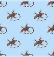 reptile amphibian seamless pattern colorful fauna vector image