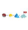 Symbols of Switzerland Mathematical formula Bank vector image
