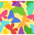 Seamless bright background of butterflies vector image vector image