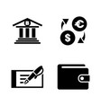 banking simple related icons vector image