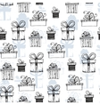 Seamless pattern with handdrawn gift boxes vector image