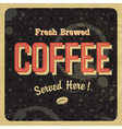 retro coffee poster vector image