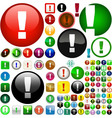 attention buttons vector image vector image