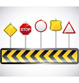 road signal design vector image