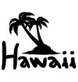 Hawaii symbol vector image