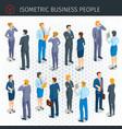 isometric business people vector image
