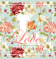 vintage autumn and summer flowers graphic design vector image