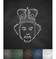 queen icon Hand drawn vector image