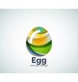 egg logo template vector image