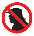 anti president donald trump silhouette sign vector image