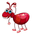 A smiling ant waving vector image vector image