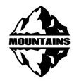 monochrome pattern with three mountains vector image