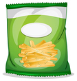 A pack of crispy french fries vector image