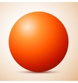 Big red ball abstract vector image