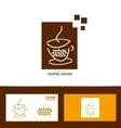 Coffee cup logo icon set vector image