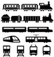 Train subway and railways vector image vector image