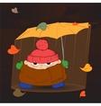 standing in the rain vector image