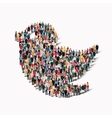 group people form bird vector image