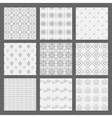 White and gray modern geometrical pattern set vector image