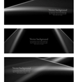 Black and white monochrome smooth lines banners vector image