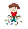 alphabets and boy vector image