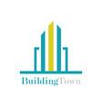 building town logo vector image