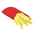 french fries frying and oil sticks object vector image