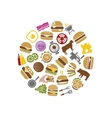 hamburger icons in circle vector image