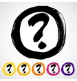 hand-painted question mark sign icon vector image
