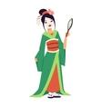 japanese geisha girl vector image