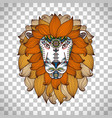 lion head logo in boho style vector image