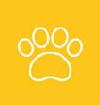 paw line icon vector image