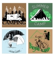 set of retro vintage camp labels and logo graphics vector image
