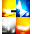 shiny glittering light background vector image
