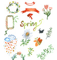 Spring watercolor design vector image