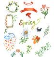 Spring watercolor design vector image
