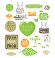 text doodle green vector image