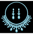 blue necklace women for marriage with precious sto vector image vector image