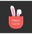 white rabbit ears in red pocket vector image