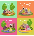 summer recreation Family vector image