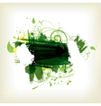 Abstract background with splash and floral vector image
